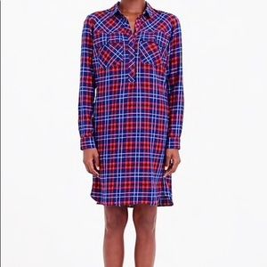 J Crew | Plaid Shirt Dress